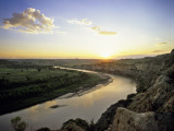 Little Missouri River at Sunset in Theodore Roosevelt National Park, North Dakota, USA Photographic Print by Chuck Haney