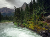 St Mary River on a Stormy Day in Glacier National Park, Montana, USA Photographic Print by Chuck Haney