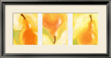 Poires Salsa Triptych Print by Chantal Godbout
