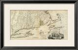 The Provinces of Massachusetts Bay and New Hampshire, Southern, c.1776 Framed Giclee Print by Thomas Jefferys