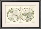 Karte Der Magnetischen Meridiane und Parallel-Kreise, c.1840 Framed Giclee Print by Heinrich Berghaus