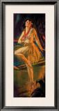 Firelight Hula Framed Giclee Print by Gene Pressler