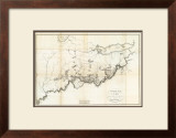 General Map of the Course of the Ohio, c.1796 Framed Giclee Print by George Henri Victor Collot