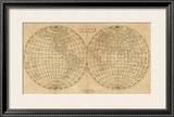 The World, c.1812 Framed Giclee Print by Aaron Arrowsmith