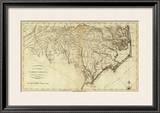 State of North Carolina, c.1796 Framed Giclee Print by John Reid