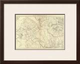 Western Colorado and Part of Utah, c.1881 Framed Giclee Print by F. V. Hayden