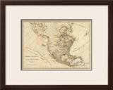 North America, As Divided amongst the European Powers, c.1776 Framed Giclee Print by Robert Sayer