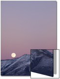 Full Moon Rising over Diamond Mountains with Snow, Great Basin, Eureka County, Nevada Posters by Deon Reynolds