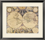 New World Map, c.1676 Posters by Pieter Goos
