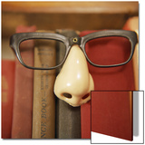 Joke Glasses and Nose in Bookshelf Print by  Snap Decision
