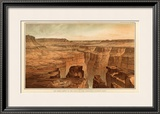 Grand Canyon: Foot of the Toroweap looking East, c.1882 Framed Giclee Print by William Henry Holmes