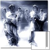 Angel Statues in the Clouds Poster by Abdul Kadir Audah