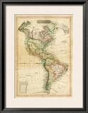 America, c.1820 Framed Giclee Print by John Melish