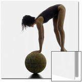 Woman Balancing on Globe Prints by Alfonse Pagano