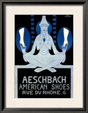 Aeschbach American Shoes Framed Giclee Print by Hans Schoellhorn