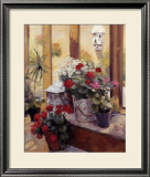 Garden Flowers Print by Edward Noott