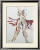 Woman with Red Prints by Jerry Brody