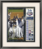 2009 New York Yankees World Series Champions Plaque Framed Photographic Print