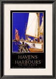 LNER, Havens and Harbours, 1923-1947 Framed Giclee Print by Frank Mason