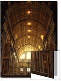 Inside St. Peter's Basilica, Vatican City, Italy Prints by Abdul Kadir Audah