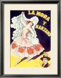 La Mora Spanish Flamenco Dancer Framed Giclee Print