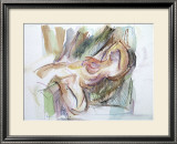 Reclining Woman Print by Jerry Brody