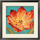 Flame Tulip II Print by Karen Leibrick