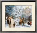 A Winter Day in Quebec Print by Lise Auger