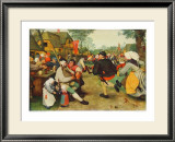 Peasants Dance Posters by Pieter Bruegel the Elder