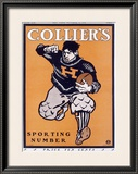 Colliers Havard Football Framed Giclee Print