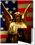 Angel with America Flag as the Background Prints by Abdul Kadir Audah