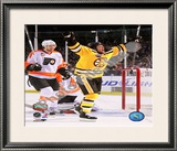 Marco Sturm Game Winning Goal Vertical 2010 NHL Winter Classic Framed Photographic Print