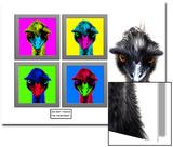Staring Emus Posters by Abdul Kadir Audah