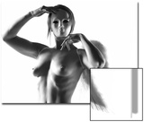 Nude Angel Holding a Mask Print by Antonino Barbagallo