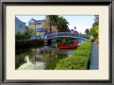 Arch and Red Canoe Framed Giclee Print by Jack Heinz