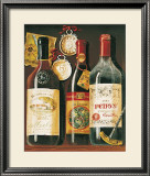 Wine Bottles I Prints by Mariapia & Marinella Angelini