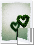A Green Love Sign with its Shadow Prints by Abdul Kadir Audah