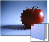 Mutated Red Tomato on Blue Background Prints by Abdul Kadir Audah