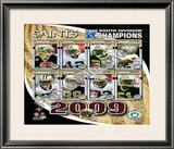 2009 New Orleans Saints NFC South ChampionsTeam Framed Photographic Print