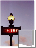 Metro Stop in Paris Against Sunset Sky Posters by Abdul Kadir Audah