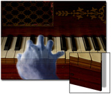 Ghost Hand Playing the Piano Poster by Abdul Kadir Audah