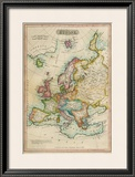 Europe, c.1820 Framed Giclee Print by John Melish