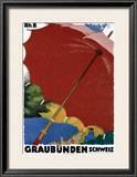 Graubunden, Schweiz Framed Giclee Print by Augusto Giacometti