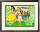 Hula Girls in Paradise Island, Hawaii Poster by Noriko Sakura