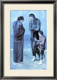 Les Pauvres au Bord de la Mer, c.1903 高画質プリント : パブロ・ピカソ