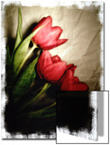 Three Red Tulips Poster by Abdul Kadir Audah