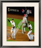 M.Teixeira &amp; M.Rivera Game Six of the 2009 MLB World Series Framed Photographic Print