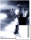 Angel Statue in the Clouds Posters by Abdul Kadir Audah