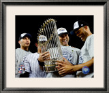 Andy Pettitte, Jorge Posada, Derek Jeter, &amp; Mariano Rivera Game Six of the 2009 MLB World Series Framed Photographic Print