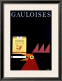 Gauloises Framed Giclee Print by Donald Brun